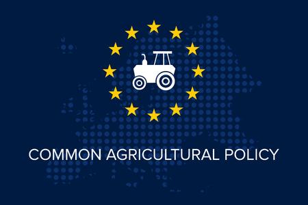 Política agrícola común sobre la bandera de la UE