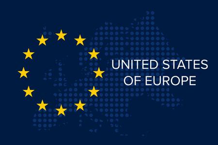 United States of Europe on EU flag