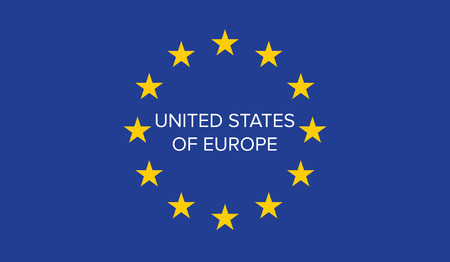 United States of Europe on EU flag