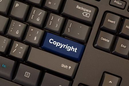 Copyright in the Digital Single Market concept on keyboard button