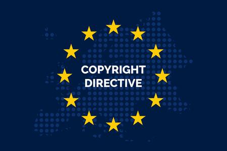 Copyright in the Digital Single Market concept on European Union flag