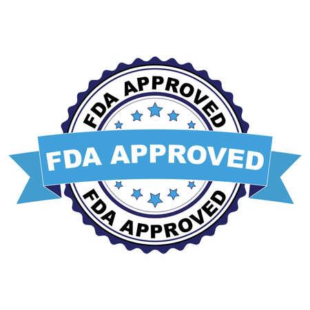 Blauschwarzer Stempel mit FDA-zugelassenem Konzept Vektorgrafik
