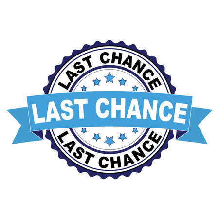 Blue black rubber stamp with Last chance concept