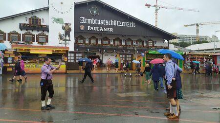 Munich, Germany, september 23, 2019: Armbrustschutzenzelt in Oktoberfest 2019 in Theresienwiese area, Munich, Germany Redakční