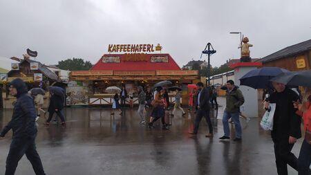 Munich, Germany, september 23, 2019: Kaffeehaferl schiessl in Oktoberfest 2019 in Theresienwiese area, Munich, Germany