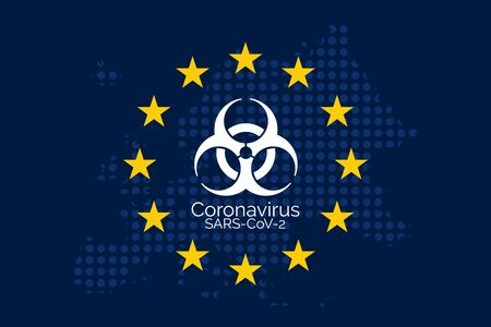 Coronavirus disease in European Union concept