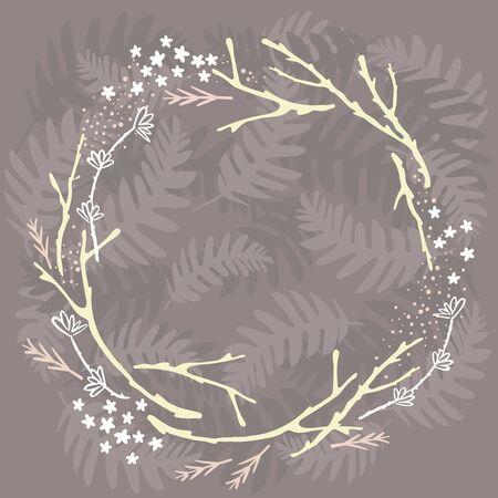 forest wreath Stock Illustratie