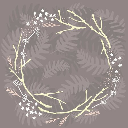 forest wreath Illustration
