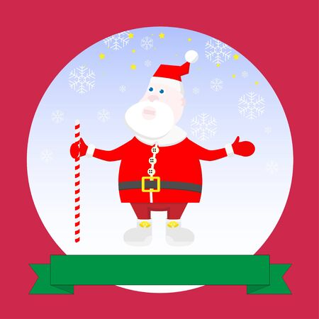 Illustration of card with Santa Claus Stock Vector - 17411968