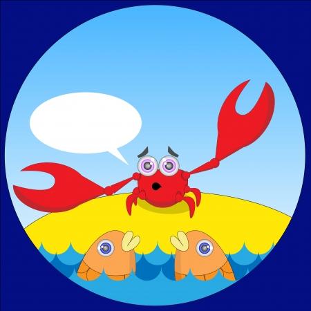 Illustration of talking crab Stock Vector - 17411962