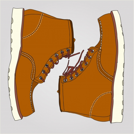 Illustration of work boots pair Stock Vector - 17411958