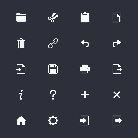 Application toolbar simple icons Ilustrace