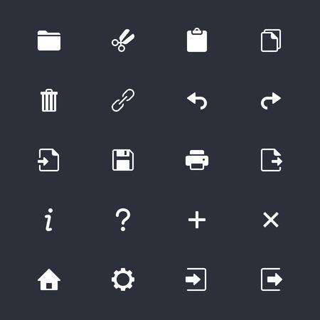 Iconos de la barra de herramientas simples de aplicación Foto de archivo - 58105072