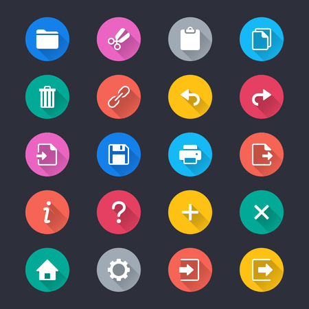 preference: Application toolbar simple color icons
