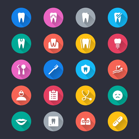 Dental simple color icons