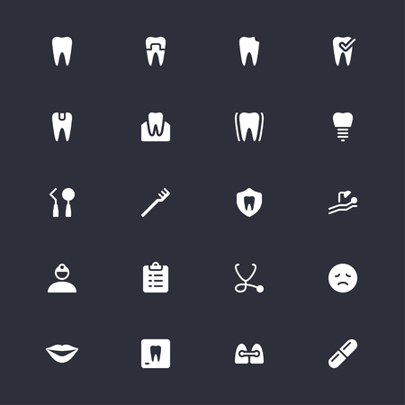 Dental simple icons