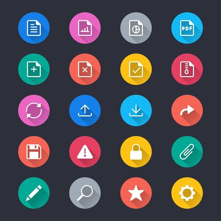 Document simple color icons Иллюстрация
