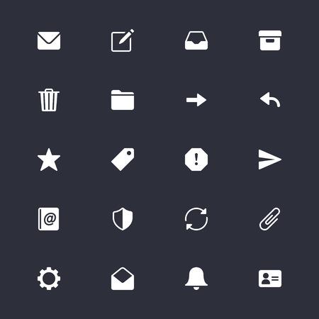 Envoyer des icônes simples Banque d'images - 58105455