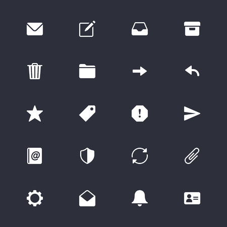 Email simple icons