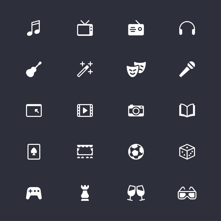 Entertainment simple icons