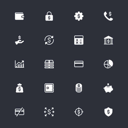 Financial management simple icons