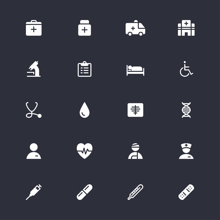 Health care simple icons