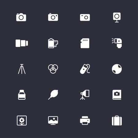 polarizing: Photography simple icons