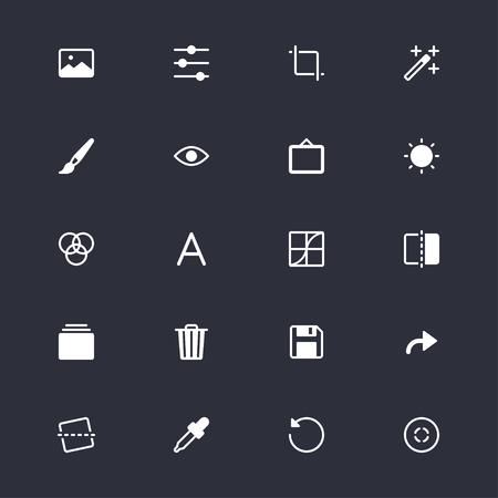 Photography simple icons Banco de Imagens - 58107616
