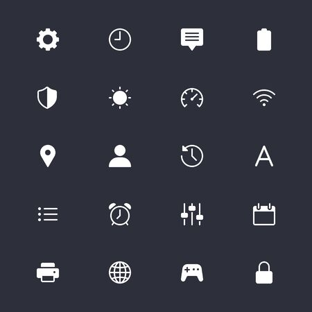 Setting simple icons