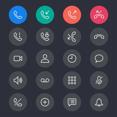 Telephone line icons Illustration