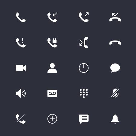 전화 간단한 아이콘