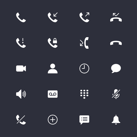 miss call: Telephone simple icons