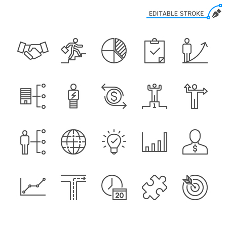 Business line icons. Editable stroke. Pixel perfect. Banco de Imagens - 120485453