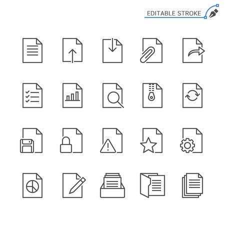 Document line icons. Editable stroke. Pixel perfect. Banco de Imagens - 120485672
