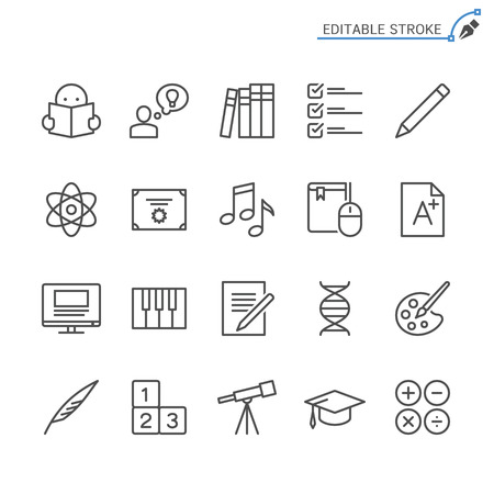 Education line icons. Editable stroke. Pixel perfect. Banco de Imagens - 120485678