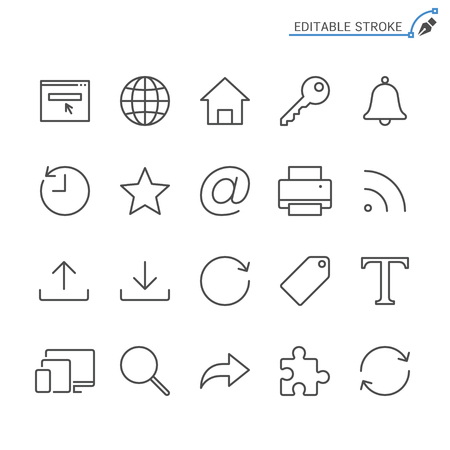 Web line icons. Editable stroke. Pixel perfect.