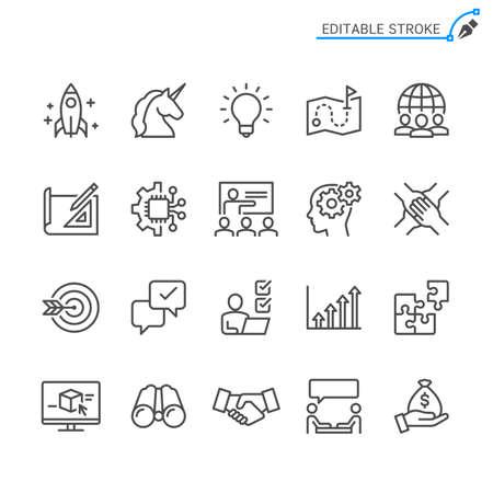 Startup line icons. Editable stroke. Pixel perfect. Illusztráció