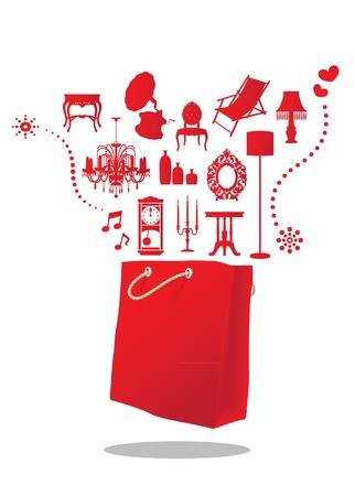 furniture shopping bag Stock Vector - 16455652