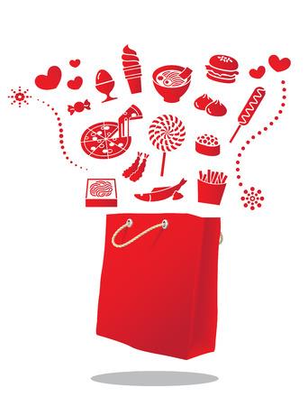 food bag illustration Vector