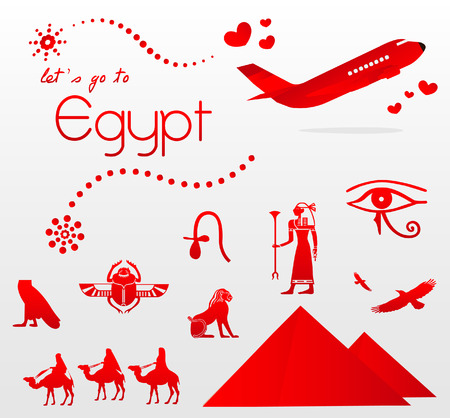 let s go to Egypt Vector