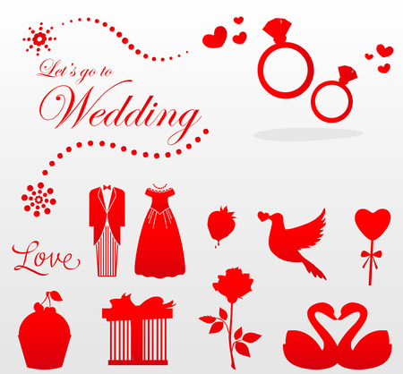 let s go to wedding day Vector