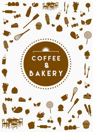 art work: coffee and bakery art work