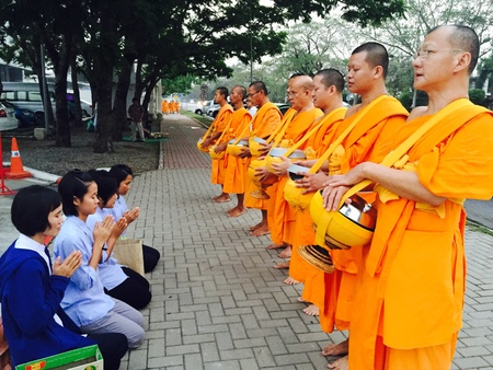 monks: Offering to the monks