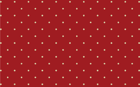 A classic white polka dot on red background wallpaper backdrop Ilustracja