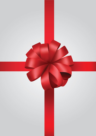 red gift box: white gift box with red bow ribbon