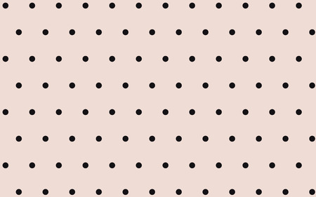 classic cute black dot with pink background Ilustracja