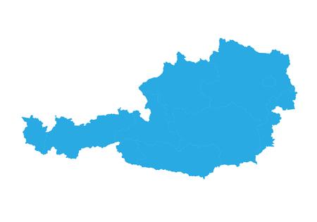 Map of austria. High detailed vector map - austria.
