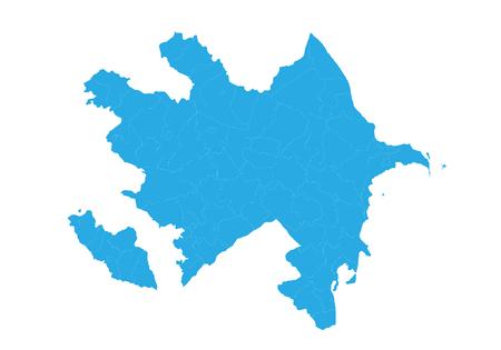 Map of azerbaijan. High detailed vector map - azerbaijan. Illustration
