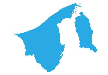 Map of brunei Darussalam. High detailed vector map -  brune iDarussalam. Illustration