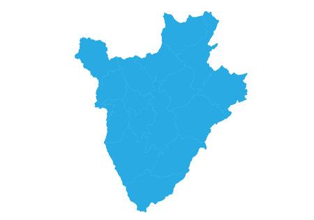 Map of burundi. High detailed vector map - burundi .